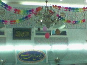 مسجد تزیین شده
